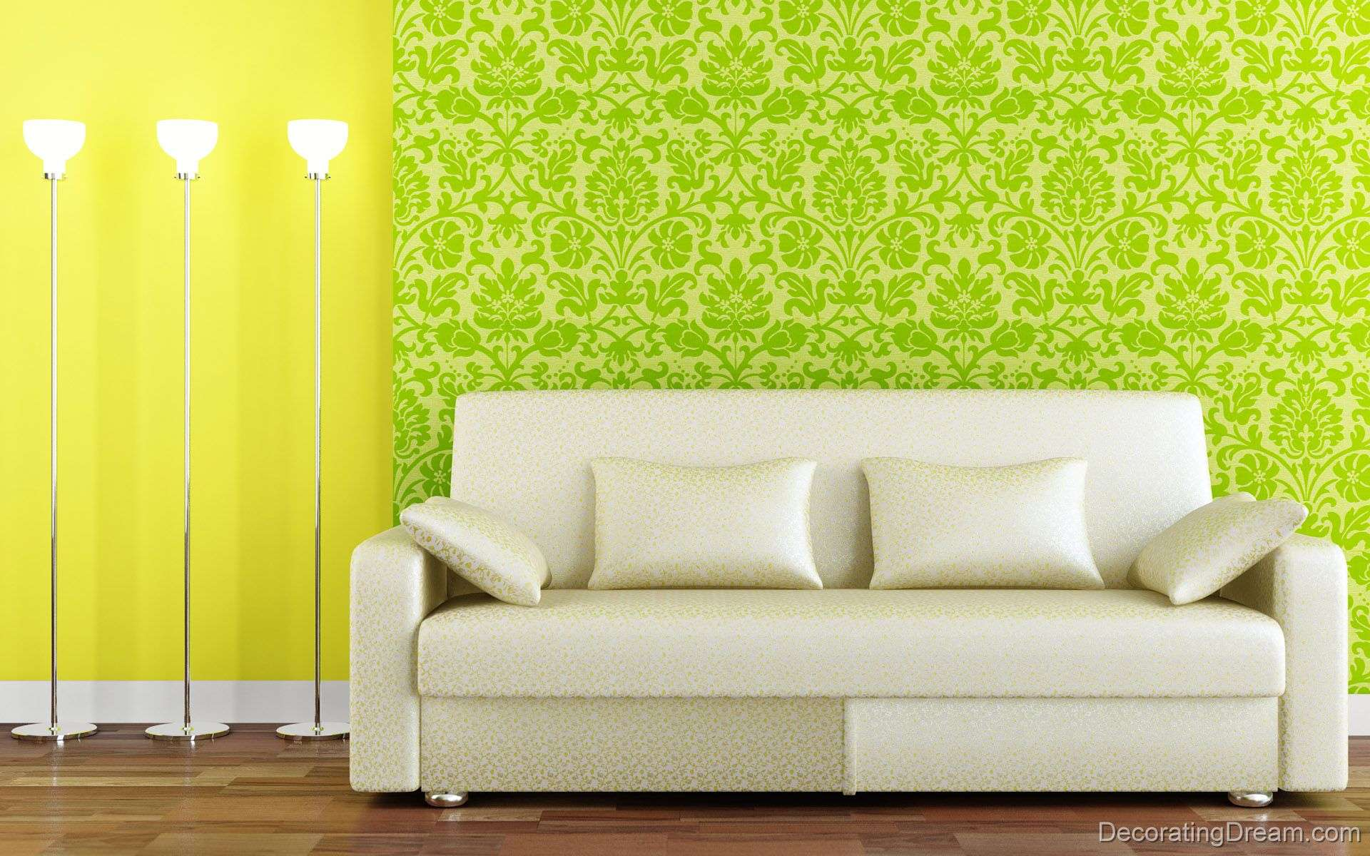 Green Living Room White Sofa Designs Decorating Dream