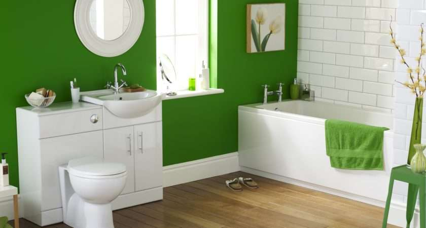 Green Suite Complete Bathroom Including Back Wall Toilet