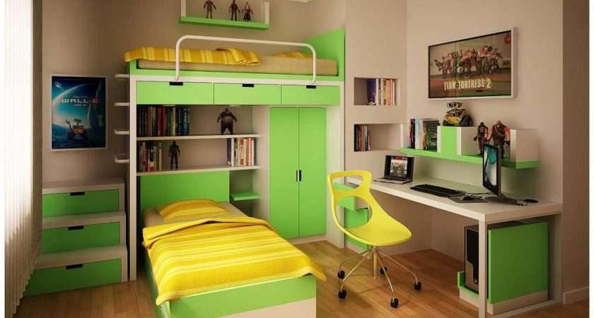 Green Yellow Minimalist Bookcase Teen Room