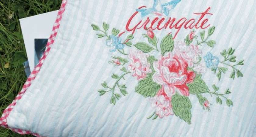 Greengate Cushion Cover Amy Pale Blue Love
