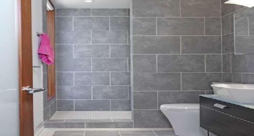 Grey Bathroom Tile Design Ideas More