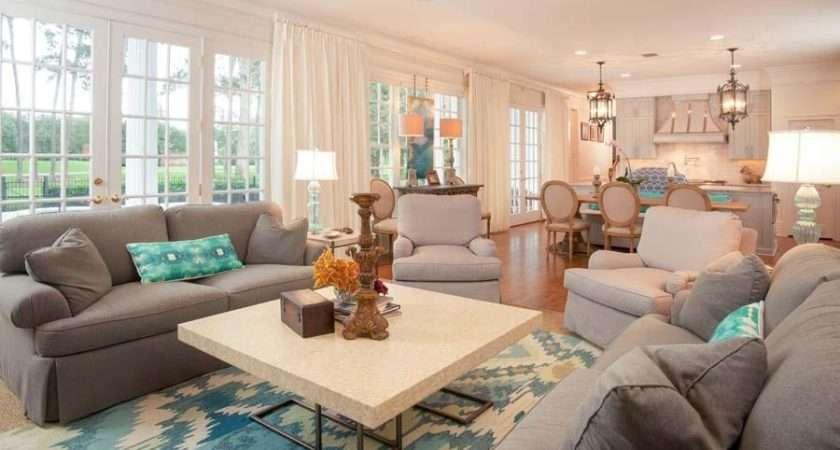 Grey Bedroom Teal Accents Living Room