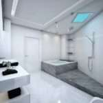Grey Black White Bathroom Design Ideas Interior Style