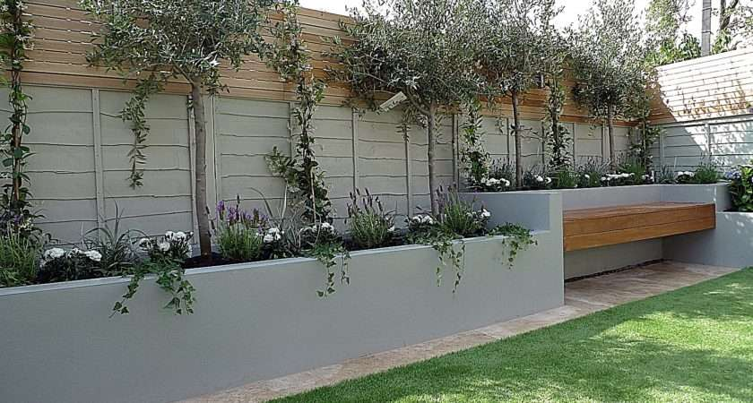 Grey Fence Paint Garden Fencing Ideas Designs