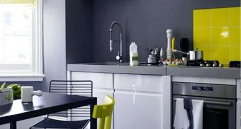 Grey Kitchen Walls Green Chairs Decor Kitchentoday