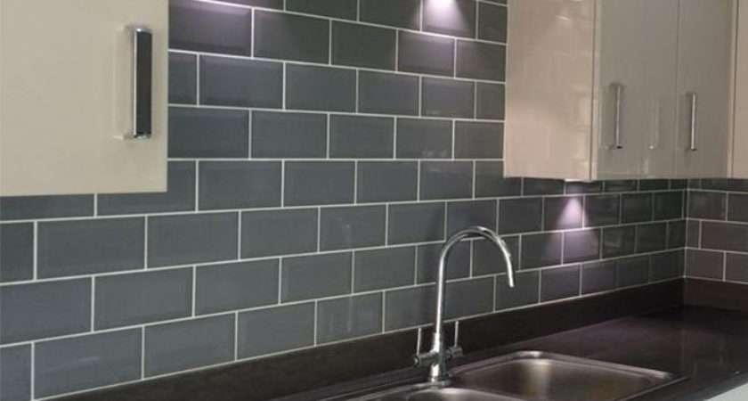 Grey Metro Brick Effect Ceramic Tiles Ebay