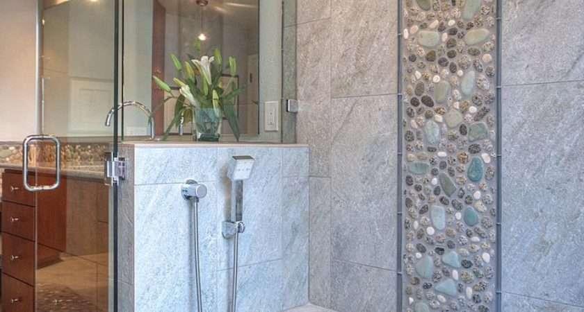 Grey Natural Stone Bathroom Tiles Ideas