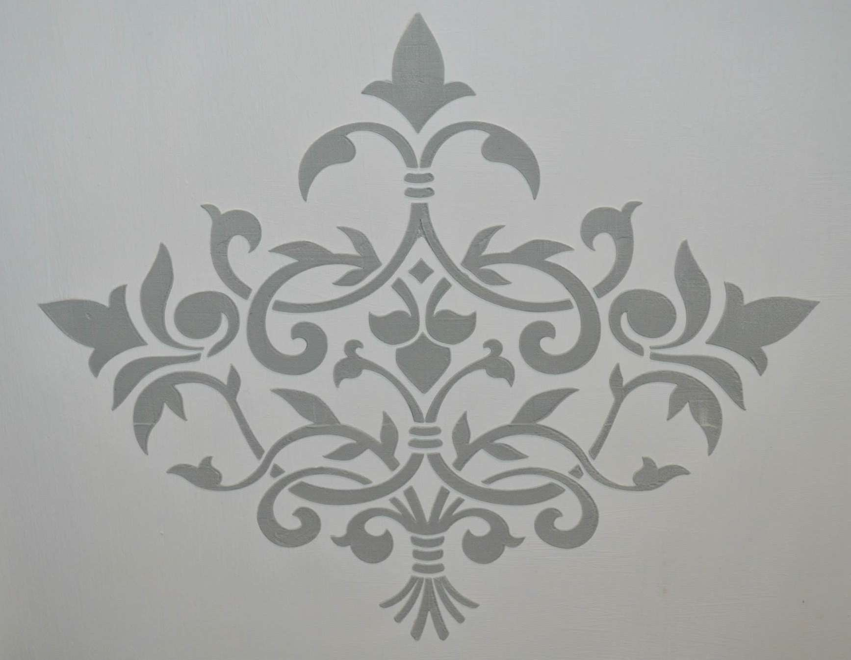 Grey Paint Stencils Autentico Fleur Wall Floor Stencil
