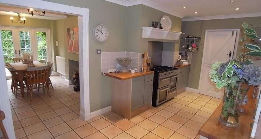 Grey Sage Green White Kitchen Stable Door Wall Clock