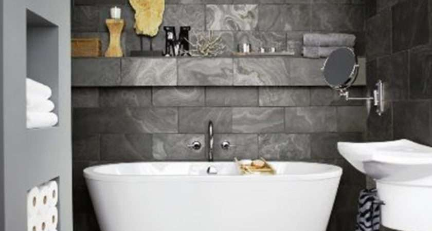 Grey Slate Bathroom Floor Tiles Ideas