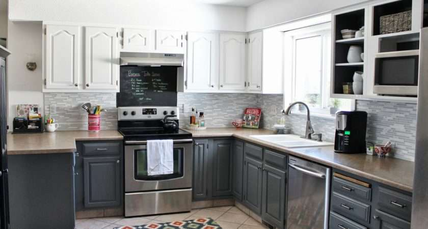 Grey White Painted Kitchen Reveal House Five Featured