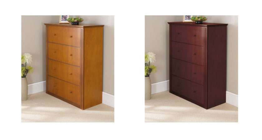 Guest Bed Cabinets Light Oak Mahogany Neatly Hide