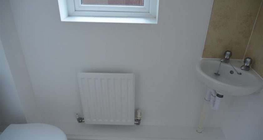Guest Cloak Room Having Modern White Two Piece Suite Comprising