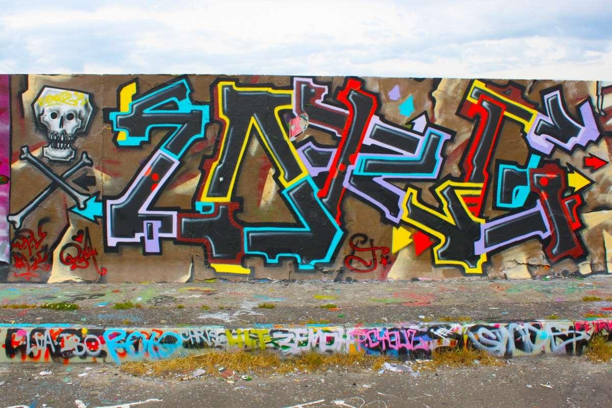 Gwm Wall Graffiti Mural Peler Coller Papier Peint Auto