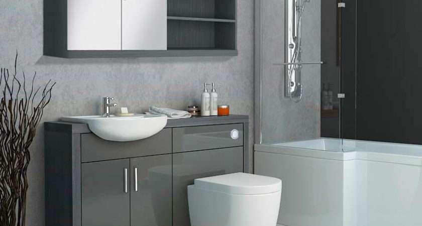 Hacienda Fitted Furniture Pack Grey Buy Bathroom