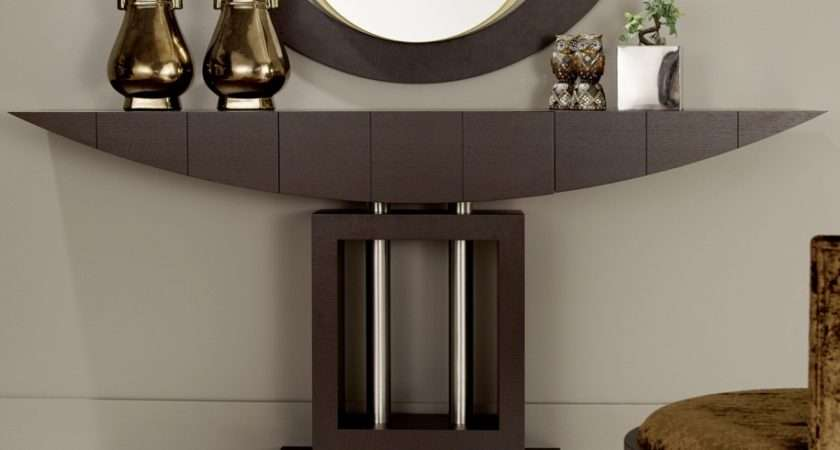 Hallway Furniture Modern Narrow Console Table Mirror
