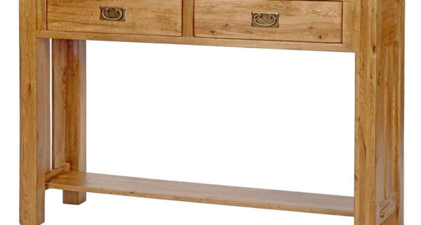 Hallway Furniture Small Two Drawer Storage Console Hall Table Ebay
