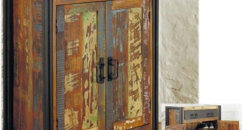 Hallway Storage Cabinet Agra Solid Reclaimed Wood
