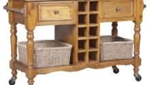 Hampton Granite Top Kitchen Island Trolley Honey Buy