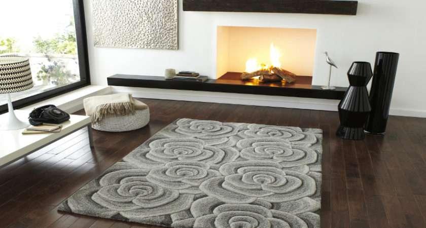 Hand Tufted Soft Wool Floral Carpet Rug Rose Design
