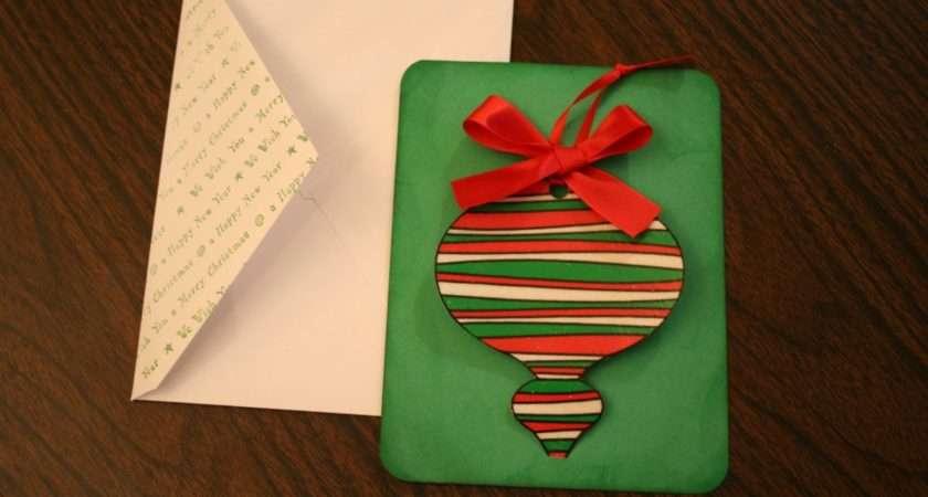 Handmade Christmas Cards Removable Ornament Chica