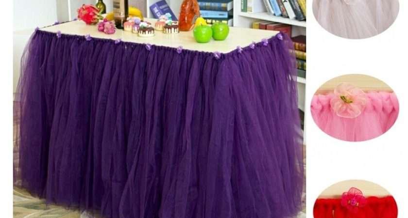Handmade Tulle Tutu Table Skirts Party Wedding Skirt