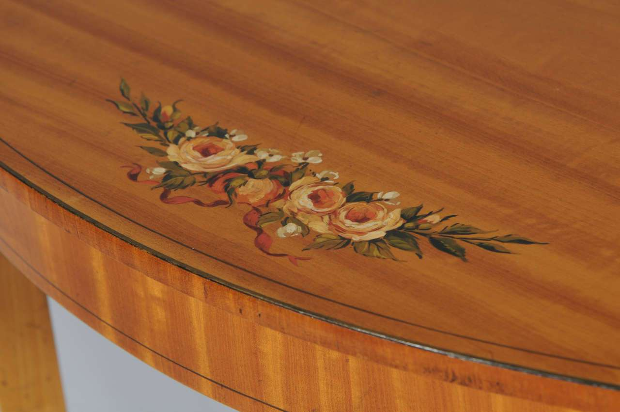 Handpainted Satinwood Occasional Table Sale Stdibs