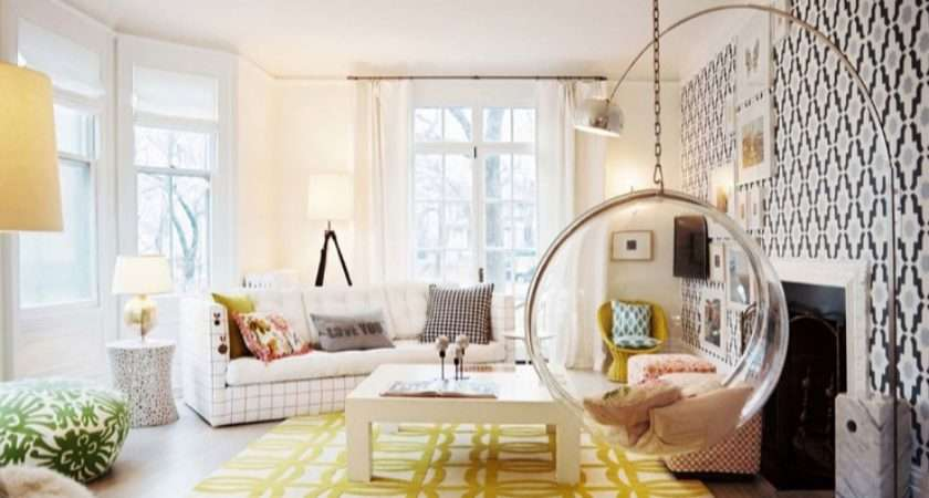 Hanging Bubble Chair Contemporary Living Room Lonny Magazine
