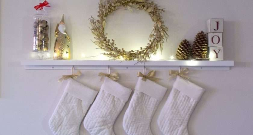 Hanging Christmas Stockings Without Mantle Fireplace Year