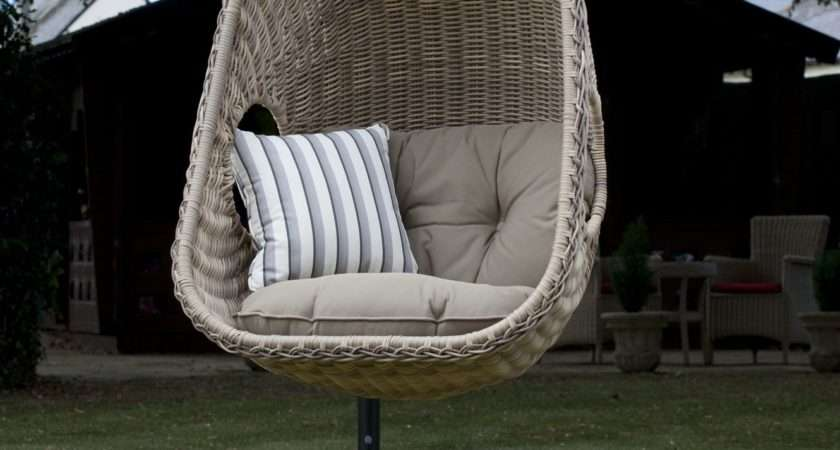 Hanging Wicker Chair Indoor Outdoor Extra Sitting