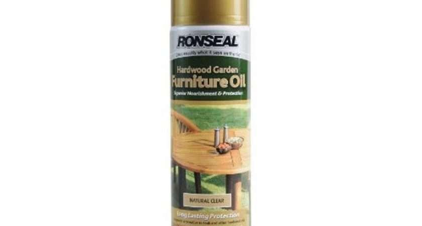 Hardwood Garden Furniture Oil Natural Clear Treatment Spray