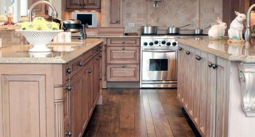Hardwood Laminate Flooring Kitchen White Cabinets