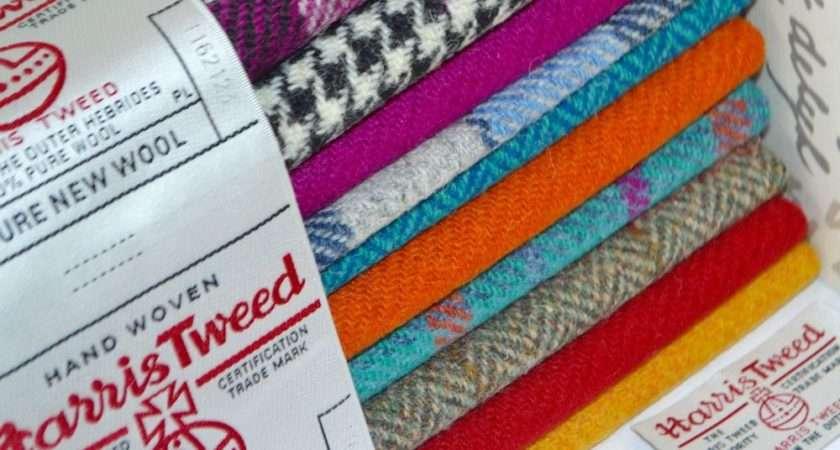 Harris Tweed Fabric Labels Wool Tartan Herringbone