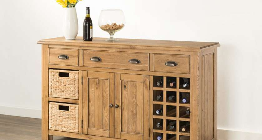 Hartford Large Sideboard Wine Rack Baskets
