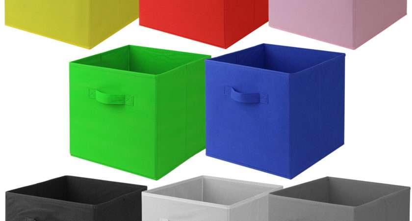 Hartleys Square Foldable Fabric Canvas Storage Box Tidy