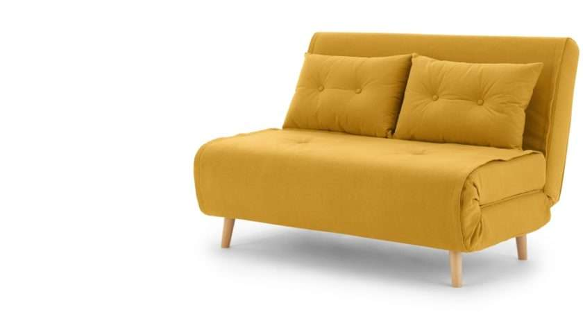 Haru Small Sofa Bed Butter Yellow Made