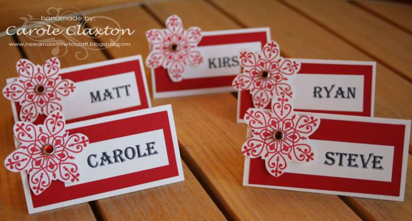 Have Made Some Name Place Cards Our Christmas Dinner Table