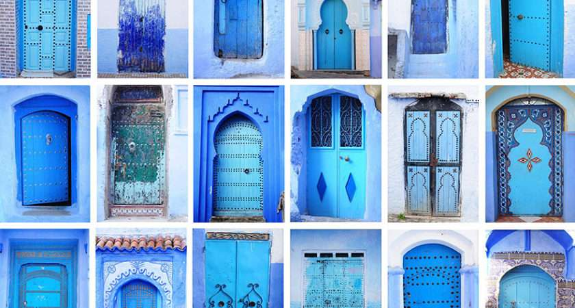 Have Mesmerizing Town Morocco Covered Blue Paint