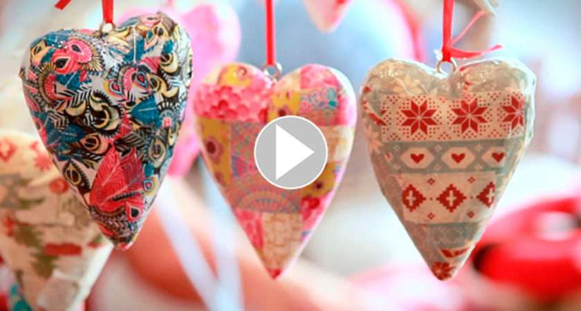 Heart Tree Decoration Craft Christmas Hobbycraft Relaxed