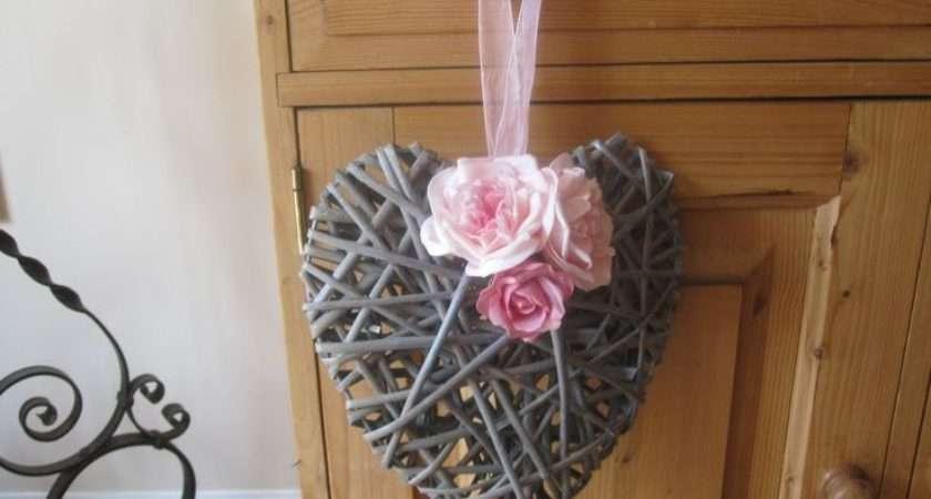Hearts Decorate Wicker Flowers November Wedding