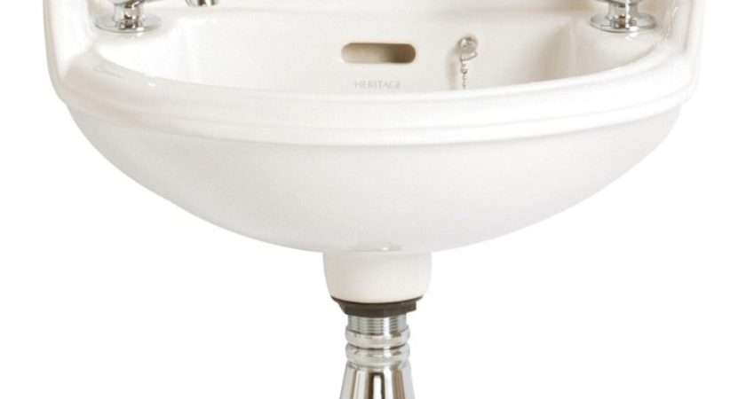 Heritage Dorchester Pdw Tap Hole White Baby Basin
