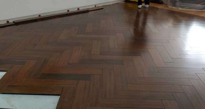 Herringbone Solid Wood Parquet Flooring Floor