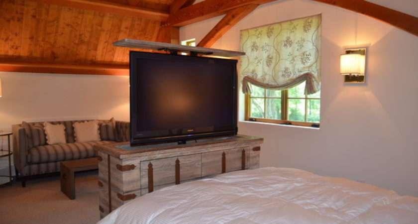 Hidden Lift Cabinet Traditional Bedroom New York