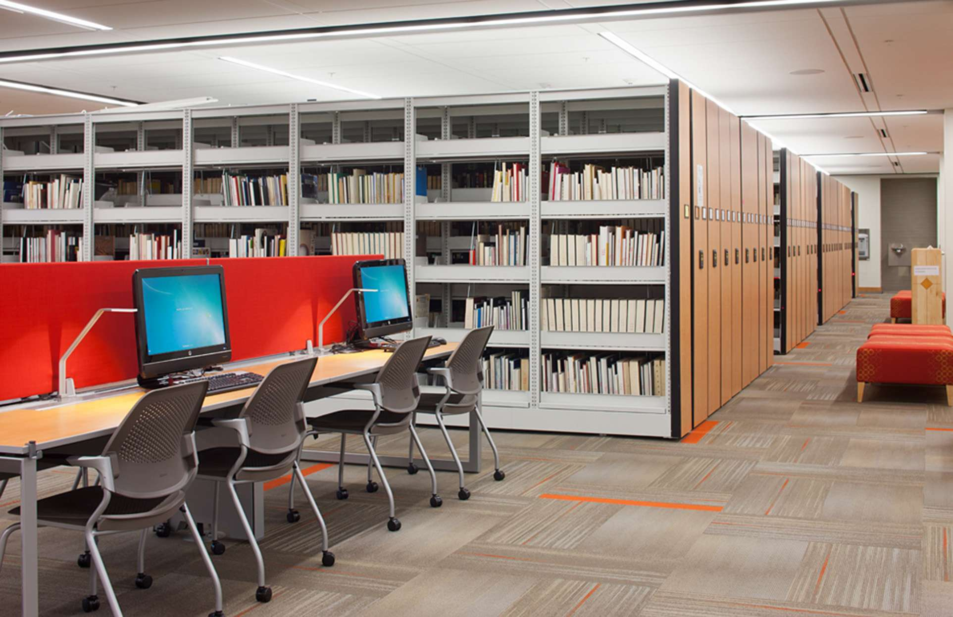 High Density Library Shelving Storage