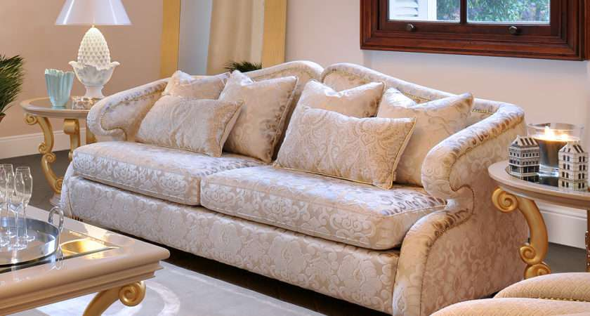 High End Modern Glamour Seater Sofa Juliettes Interiors