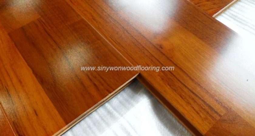 High Gloss Burma Teak Solid Wood Flooring Item