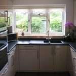 High Gloss Cream Kitchen Units Laminate Worktops
