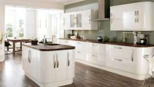 High Gloss Cream Kitchen