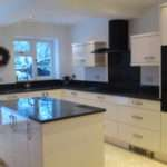 High Gloss Ivory Kitchen Granite Worktops Designed