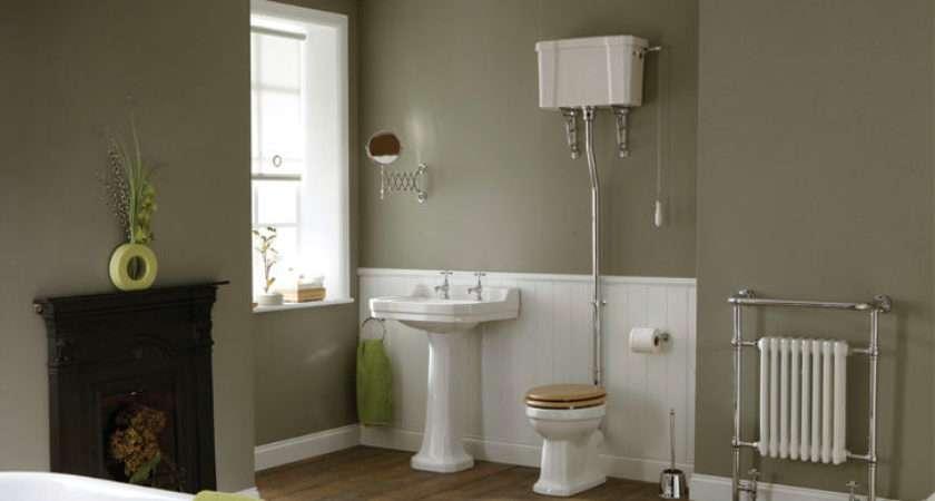High Level Edwardian Bathrom Suite Toilet Luxury Seat